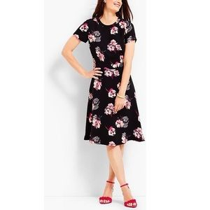 PLUS Talbot's Fit & Flare Floral Dress